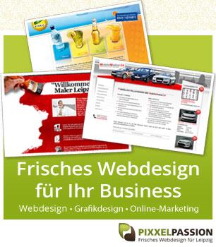 Pixxelpassion, frisches Webdesign aus Leipzig