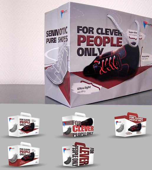 Packaging Design für Schuhkartons und Tragetaschen