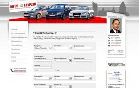 Die Formulare für den An- und Verkauf von Fahrzeugen sind nun sortiert und übersichtlich - Pixxelpassion, Webdesign für Leipzig