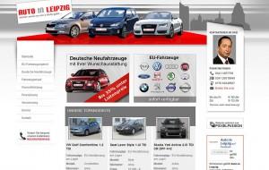 Die Startseite von Auto-in-Leipzig allein hebt sich wohltuend aus der branchenüblichen Masse heraus