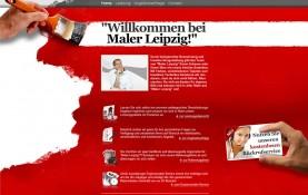 Prägnant auf den Punkt gebracht - die neue Startseite von Maler Leipzig, Pixxelpassion - Webdesign für Leipzig