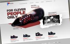 Der Onlineshop von Senmotic Shoes mit plakativem Aufmacher