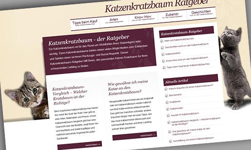 Der Katzenkratzbaum Ratgeber - das neue Katzen-Magazin von Pixxelpassion, Webdesign für Leipzig